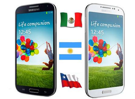 El Samsung Galaxy S4 en Mexico, Argentina y Chile, precios y